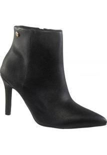 Bota Vizzano Ankle Boot Cano Curto Feminina - Feminino