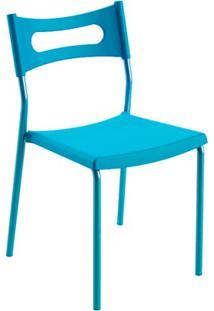 Cadeira Em Polipropileno Easy 41X49Cm Azul
