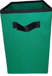 Caixa Organizadora De 28X30X28 Verde Brasil Com Alça
