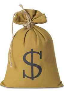 Peso De Porta Saco De Dinheiro Dourado