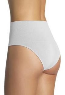 Calcinha Redutora Sem Costura Loba Slim Lupo Feminino - Feminino-Branco