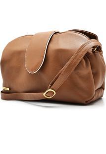 Bolsa Hendy Bag Couro Caramelo