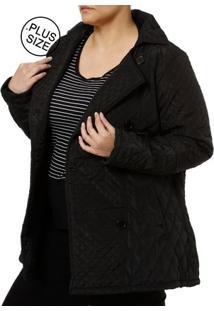 Casaco Plus Size Feminino Preto