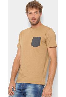 Camiseta Volcom Heather Pocket - Masculina - Masculino