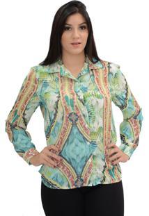 Camisa Energia Fashion Crepe Armani Verde