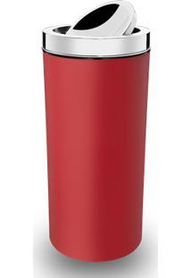 Lixeira Com Tampa Basculante Inox 9 L - Decorline Lixeiras Ø 19 X 38 Cm 9 L Vermelho Brinox