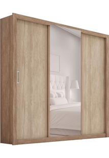 Guarda-Roupa Casal Com Espelho Residence I 3 Pt 2 Gv Nogal
