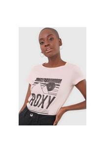 Camiseta Roxy Shadow Rosa