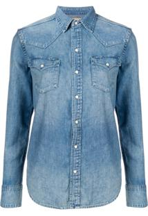 b02e0d3a2 Farfetch. Polo Ralph Lauren Camisa Jeans Mangas Longas - Azul