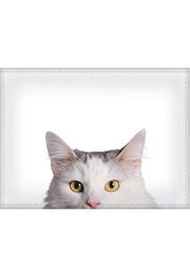 Jogo Americano Decorativo, Criativo E Descolado | Gato Branco - Tamanho 30 X 40 Cm