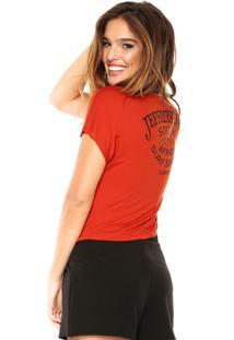 Camiseta Sommer Estampada Laranja