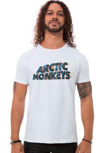 Camiseta Masculina Monkeys Fuzz Branco B