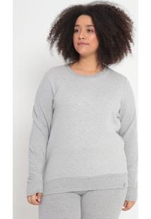 Blusão Em Moletom Texturizado- Cinza Claro- Malweemalwee