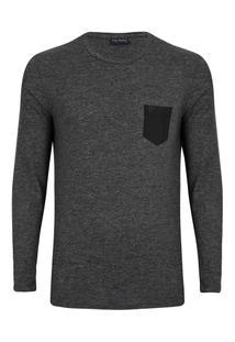 Camisetaanga Longa Flame - Masculino-Preto