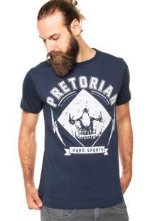 Camiseta Pretorian Skull Ii Azul Marinho