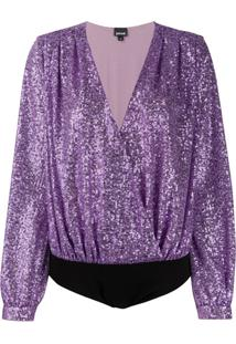 Just Cavalli Sequin Embellished Body - Roxo
