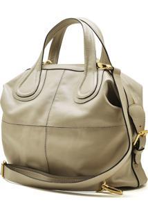 Bolsa De Couro Hendy Bag Acinzentada