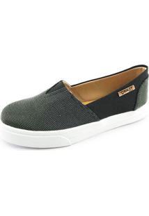 Tênis Slip On Quality Shoes Feminino 002 Multicolor Preto/Preto 33