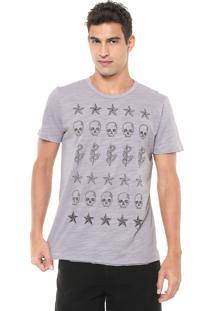 Camiseta Colcci Estampada Lilás