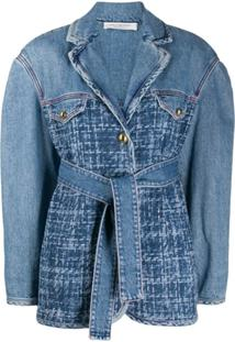 Philosophy Di Lorenzo Serafini Jaqueta Jeans Com Cinto - Azul