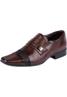 Sapato Social Jota Pe Flexfeet Dark Masculino - Masculino-Marrom
