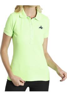 Camisa Pólo Verde feminina  a6fcecbc35751