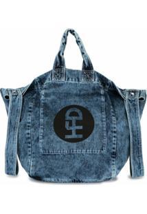 Honey Fucking Dijon Bolsa Jeans Efeito Desgastado - Azul