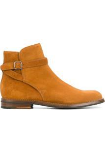 Church'S Ankle Boot De Couro Com Fivela - Marrom