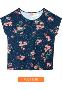 Blusa Estampada Floral Em Viscose