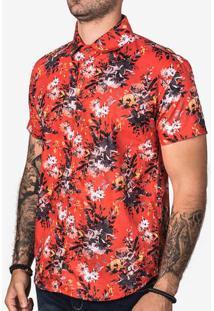 Camisa Floral Vermelha 200365