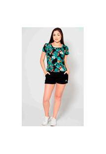 T-Shirt Kruger'S Concept Floral Guaraná