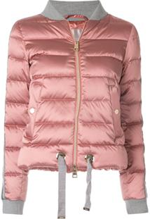 Herno Jaqueta Bomber Cropped - Rosa