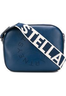 Stella Mccartney Mini Stella Logo Camera Bag - Azul