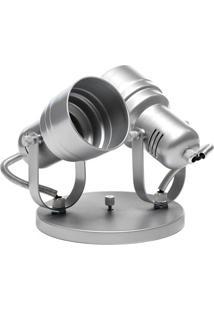 Spot De Sobrepor Em Alumínio Para 2 Lâmpadas 60W 110V Cromado