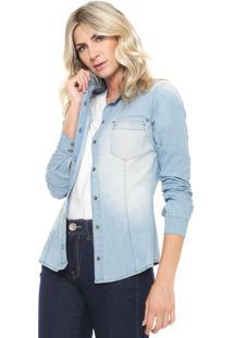 Camisa Jeans Osmoze Estonada Azul
