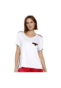 T-Shirt Manga Curta Energia Fashion Branco