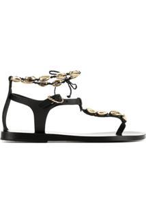 Ancient Greek Sandals Sandália 'Chrysso' - Preto