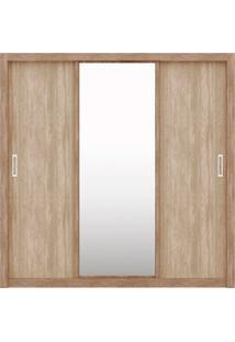 Guarda Roupa 3 Portas Residence Nogal/Vanilla Demóbile - Tricae