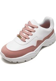 Tênis Vizzano Dad Sneaker Chunky Branco/Rosa