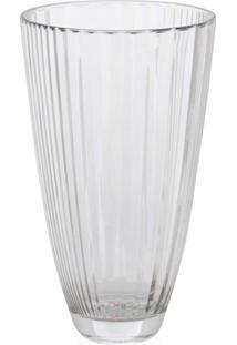 Vaso Em Vidro Transparente Diva 30Cm