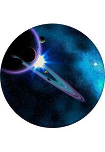 Tapete Love Decor Redondo Wevans Galaxy Azul 94Cm