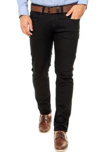Calça Sarja Calvin Klein Jeans Slim Power Stretch Preta