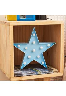 Luminária Decorativa 11 Leds Estrela Azul Azul