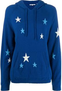Chinti & Parker Moletom De Tricô Com Estampa De Estrelas - Azul