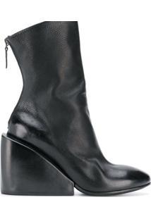 Marsèll Ankle Boot Plataforma De Couro - Preto