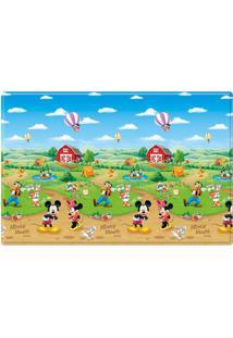Tapete Mickey Mouseâ® - Azul & Verde- 200X130Cm -Girotondo