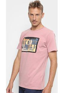 Camiseta Redley Tinturada Silk Placa Vintage Masculina - Masculino