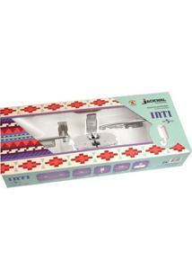 Jogo De Acessórios Para Banheiro Jackwal Inti, 5 Peças, Cromado