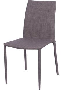 Cadeira Glam Em Linho - Marrom