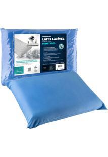 Travesseiro Fibrasca Latex Sintã©Tico Frostygel 50X70Cm Azul - Azul - Dafiti